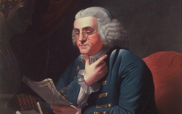 Benjamin Franklin by David Rent Etter (1835). Source: NPS