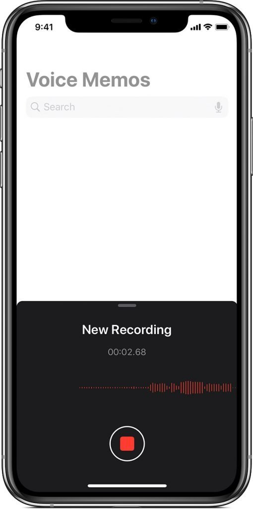 Voice Memo app on iPhone - Audio Journaling